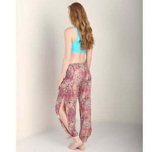 Onzie Pants - Onzie Boho Tribal Pur Vida Hot Yoga Tie Up Pants
